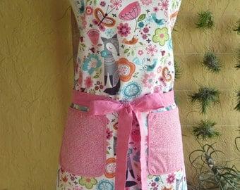 Retro Women's Apron with pockets