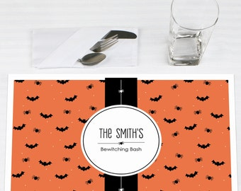 Set of 12 Bewitching Bash Halloween Placemats - Halloween Party Supplies