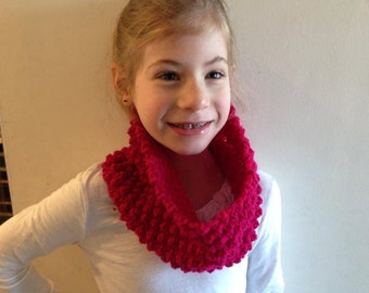 Custom Hand Knit Bobble Cowl