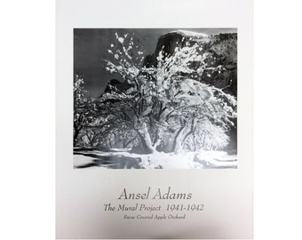 Ansel adams etsy for Ansel adams the mural project posters