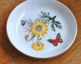Vintage Royal Worcester Bone China Dresser Pin Rings Dish Bowl Butterflies