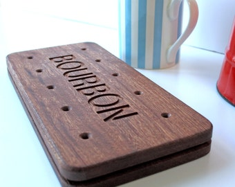 Bourbon Biscuit - Wooden Serving Board - Giant Coaster - Natural Walnut Coaster - chunky wooden coaster - Gift for Daddy - Stocking Stuffer