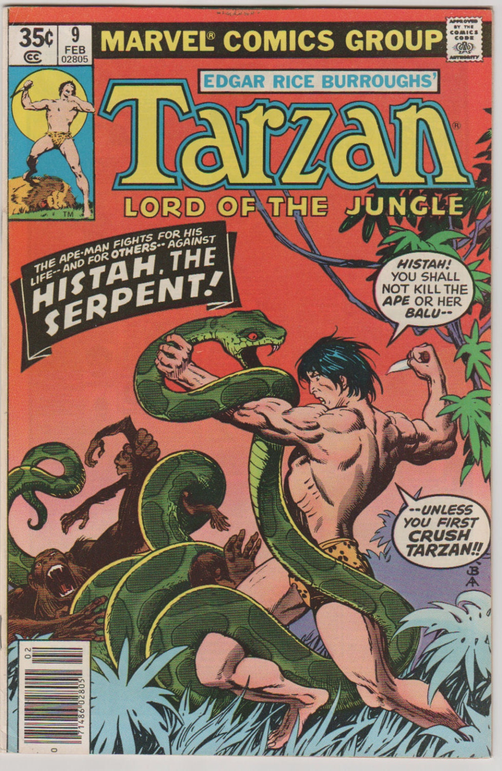 Tarzan Vol 1 9 Bronze Age Comic Book Vfnm By -3831
