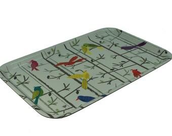 Birds melamine kitchen tray