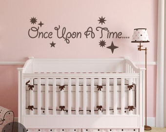 Once Upon A Time Vinyl Wall Decal Sticker