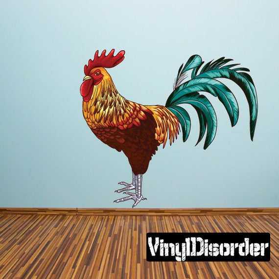 Items Similar To Rooster Wall Decal Wall Fabric Vinyl