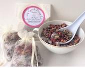 Bath tea, Rose & lavender, All natural bath soak, Bath Salt,