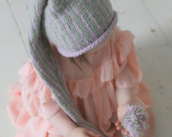 KNITTING PATTERN stocking hat Tontu (baby, toddler, child sizes)