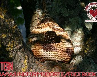 Garden bird nest