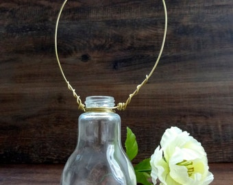 Hanging Lightbulb Bud Vase