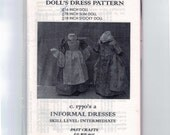 16 Inch Doll Sewing Pattern Colonial Revolutionary War 1770s Informal Dresses Apron American Girl Type Intermediate Past Crafts UNCUT