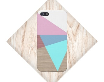 Geometric Color Stacks x Wood Design Case for iPhone 6 6 Plus iPhone 7  Samsung Galaxy s8 edge s6 and Note 5  S8 Plus Phone Case