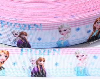SALE**** Frozen Ribbon 1 Inch Grosgrain Ribbon by the Yard for Hairbows, Scrapbooking, and More!!
