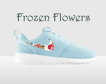 Floral Nike Roshe Run Glacier Ice And Summit White Nike