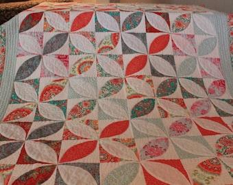 Grandma's Garden, an Appliqued quilt.