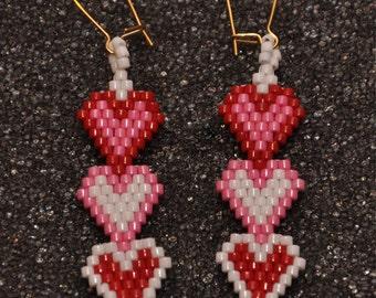 Heart Trio Earrings