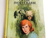"""Yellow Nancy Drew Book """"The Mystery of the Ivory Charm """" #13 Mystery Stories Book by Carolyn Keene, Children, Fiction, Hardcover"""