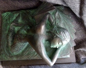 MERMAID. Represents a mermaid dreaming of hope .../ SCULPTURE