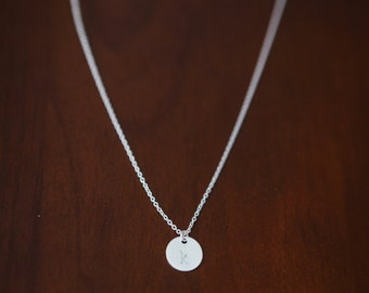9mm Circle Charm Necklace