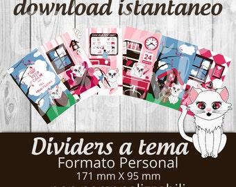 Dividers PERSONAL per filofax Neve - Printable non personalizzabili -