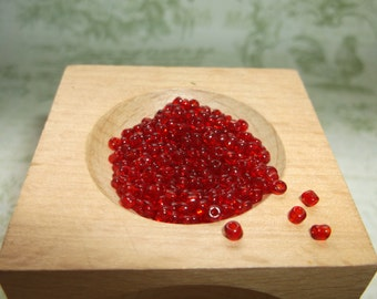 red seed bead czech glass bead 2 mm 14grams..approx. 1000 beads