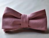 Handmade Men's Cotton Rose Pink Adjustable Bow Tie