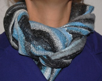 Wool Scarf - Custom made Felted Wool Scarf - Women Scarf - Winter Scarf - Warm Scarf - Neck Warmer - Gift For Her - Made to order
