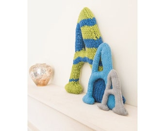 Knitted Letter A Knitting Pattern