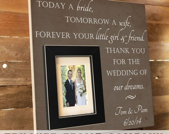 Thank You Parents Wedding Gift Personalized Picture Frame Custom 16x16 TODAY A BRIDE Father of Mother of In-Laws Gift Parents Gift