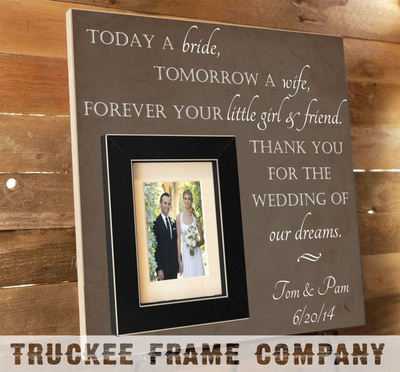 A Wedding Gift Movie : Thank You Parents Wedding Gift Personalized Picture Frame Custom 16x16 ...