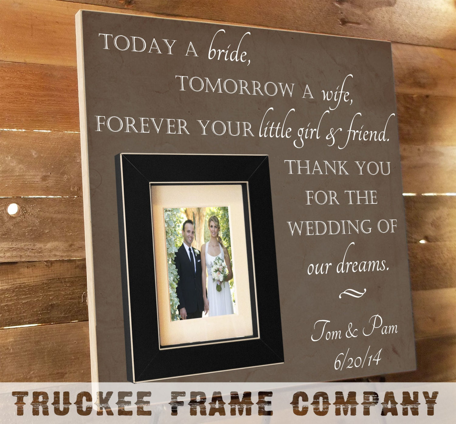 Thank You Present For Parents After Wedding : Thank You Parents Wedding Gift Personalized by TruckeeFrameCo