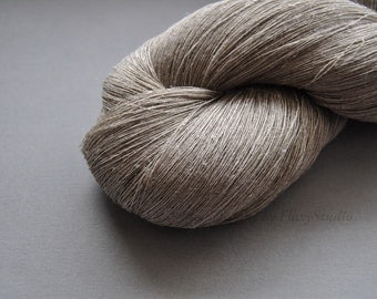 Natural Grey 100 % Linen Yarn 100 g Hank