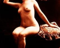 """Vintage Risque Nude Exotic - Boudoir #009 Canvas Art Poster 16"""" x 24"""""""