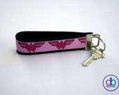 Pink Wonder Woman Inspired Keychain