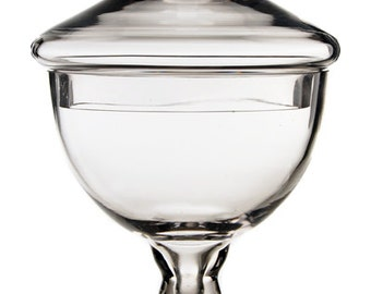 Glass Apothecary Jar  #GAJ111