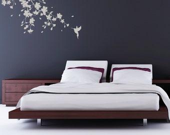 Sakura Cherry Blossom Wall Sticker : Large 110cm x 75cm