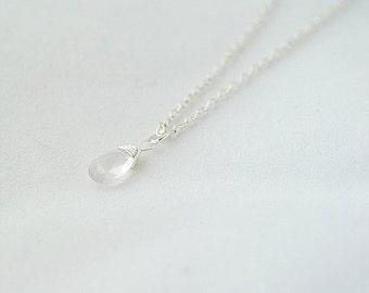 Delicate Necklace, Quartz Necklace.