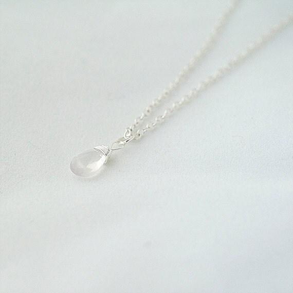 Delicate Necklace, Quartz Necklace.