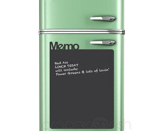 Large Memo Chalkboard wall decal - Erasable surface wall decals by GraphicsMesh
