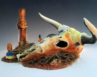 cow skull and desert - photo #22