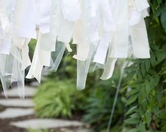 Ribbon garland backdrop | Ribbon backdrop | Custom garland