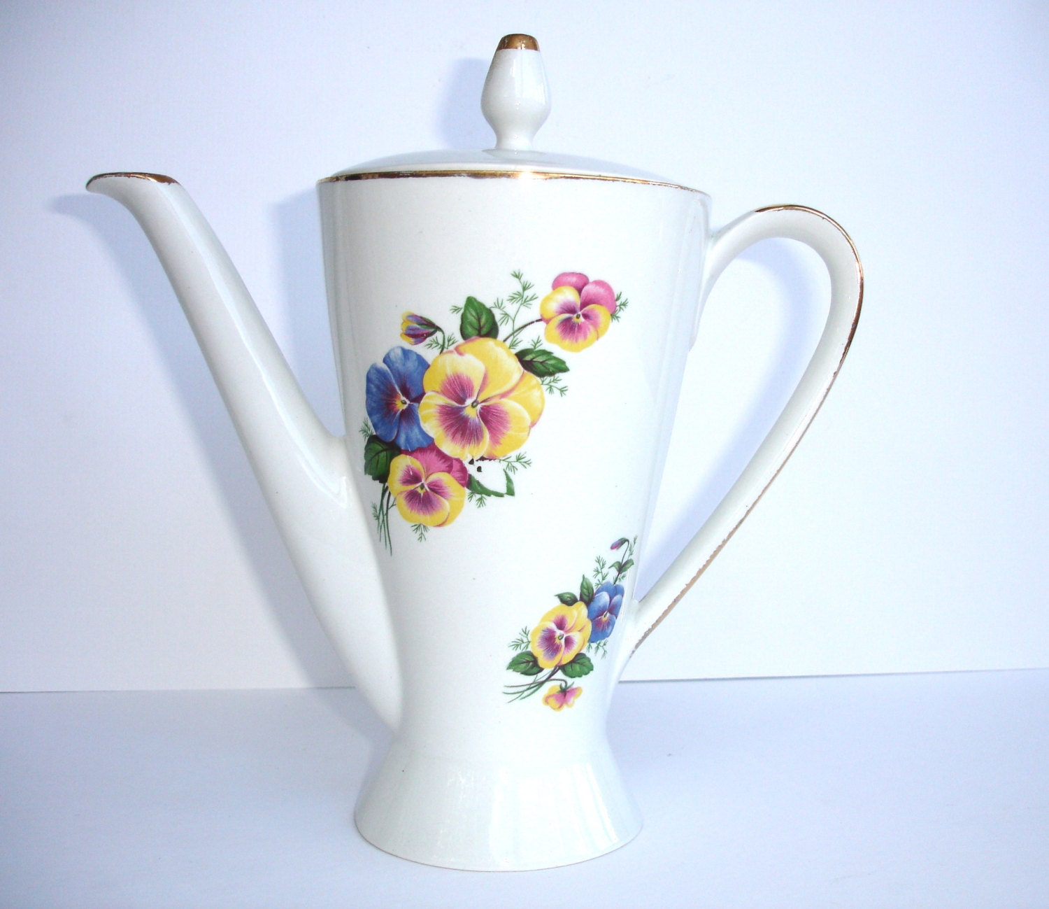 1940s Burgess Leigh Burleigh Ware Coffee Pot With A