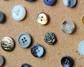 Antique Button Tacks/ Set of 15