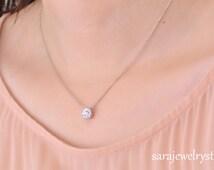 Diamond Necklace Wedding Gift : ... weight 0.34 carat /Anniversary jewelry/Birthday/Wedding jewelry/Gift