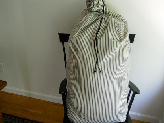 Black Cotton Laundry Bag: Items Similar To Laundry Bag Extra Long Durable