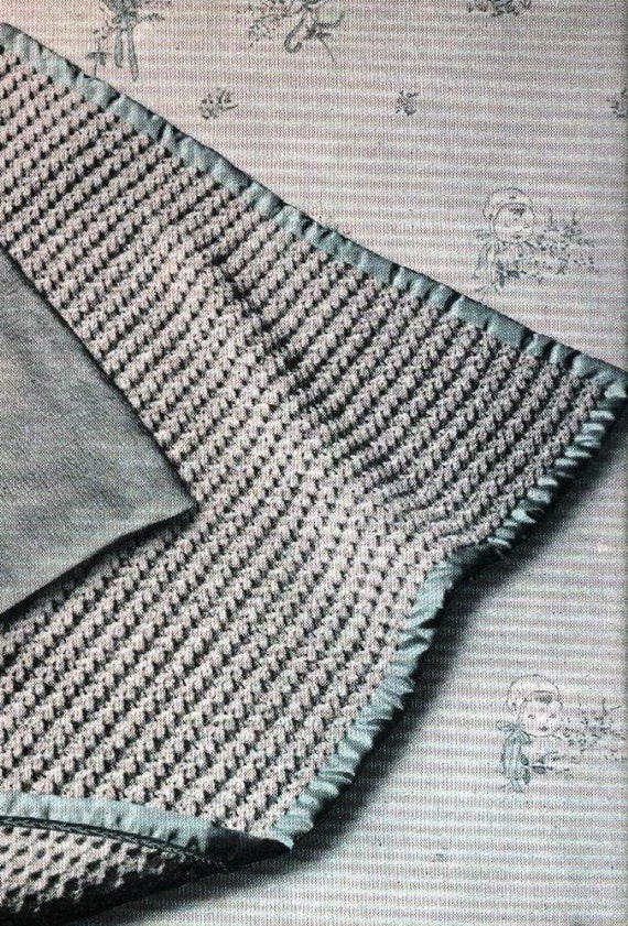 ePattern 1941 Vintage Knitting Pattern Sea Shell Afghan Baby