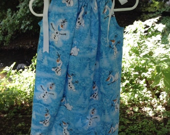 Olaf print pillowcase dress