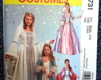 M5731 McCall's uncut princess costume child size 3-8