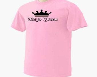 Bingo Queen Playing Bingo Markers Cards T-Shirt