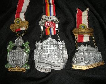 Fabulous Lg.Carved Medall German Pin,Badge,Medallions, Sport/Commemorative Fest Memorabilia Lot 3